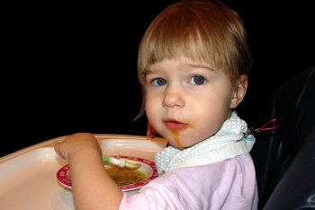 Serve your toddler high-iron foods to boost her iron levels.
