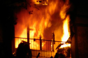 Hazard insurance policies cover damage from fire.