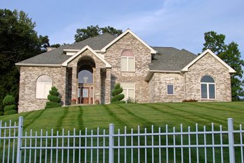 Many gated communities feature luxury homes.