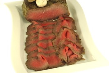 Roast beef is rich in protein.