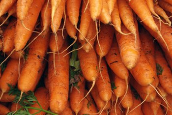 A 1/2-cup serving of raw carrots gives you all the vitamin A you need each day.