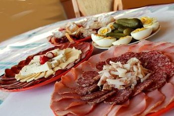 Meats and cheeses can be high in saturated fat.