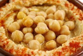 The chickpeas in hummus make it relatively high in protein.
