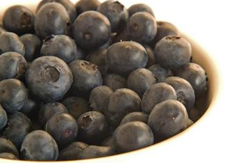 Blueberries contain a large amount of dietary fiber.