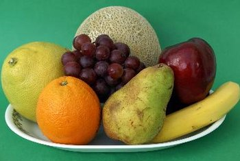 Fruits contain simple sugars.