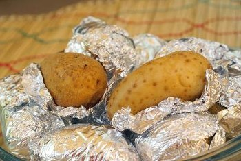 A baked potato contains approximately 1 gram of potassium.