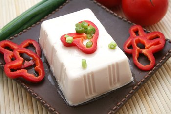 Tofu is a good source of protein for vegetarians.
