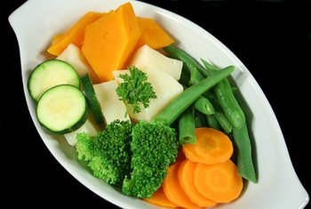 Lightly steaming rather than boiling vegtables helps keep vitamins intact.