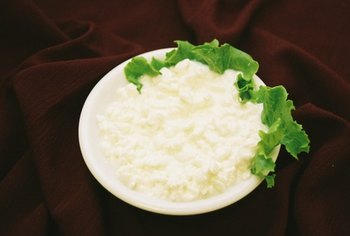 Low-fat cottage cheese contains about 28 grams of protein per cup.