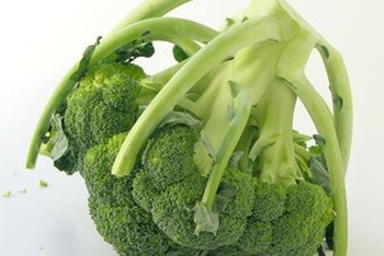 Eat broccoli as a vegetarian source of calcium.