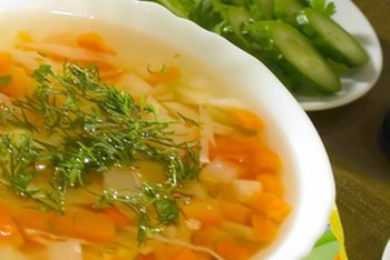 Broth-based soup is a filling, low-calorie lunch that may help in your weight loss efforts.