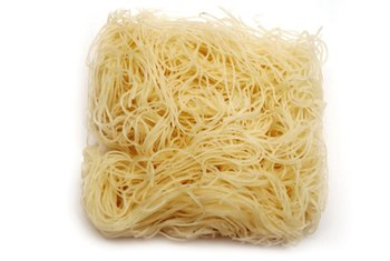 Rice noodles come in different shapes and sizes.