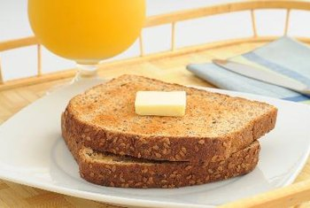 Whole-grain bread is a healthful source of carbohydrates.