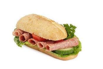 Salami makes a tasty sandwich filling, but it is not a healthy choice.