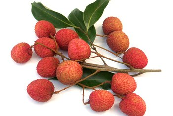 With an inedible seed, the lychee is a fruit, rather than a nut.
