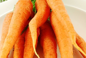 Raw carrots are naturally low in calories.