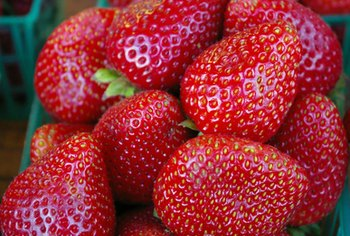 Strawberries are a healthy source of vitamin C.