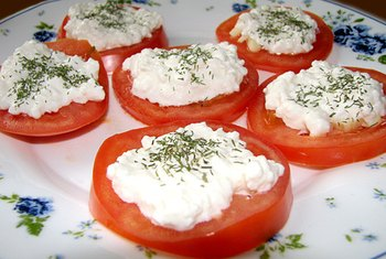 Cottage cheese is a source of protein, fat, vitamins and minerals.
