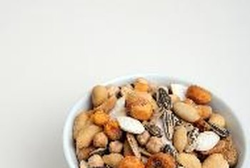 Nuts are a low-carb snack to enjoy at a Super Bowl party.