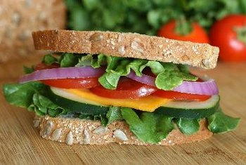 A salad sandwich is crunchy and delicious.