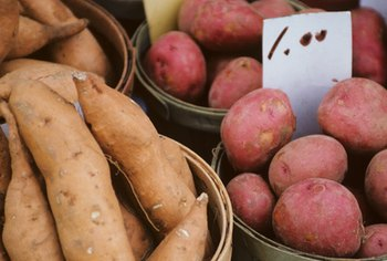 Potatoes are a nutritious starchy vegetable.