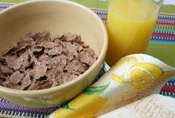Whole-grain cereals are a good source of fiber.
