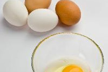 Introduce eggs into a baby's diet slowly to watch for symptoms of a food allergy.