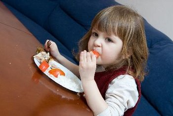Preschoolers need three meals and two or three snacks each day.