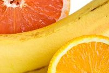 Fruit, including bananas, oranges and grapefruit, are rich sources of potassium.