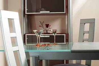 Arrange furniture in an apartment to make it homey.