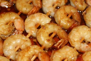 Shrimp is high in cholesterol but low in fat.