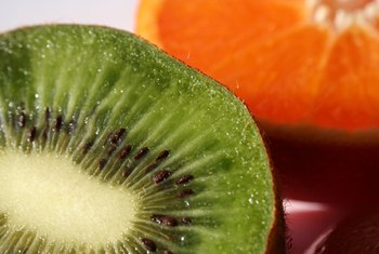 Kiwi contains more vitamin C per cup than an orange.