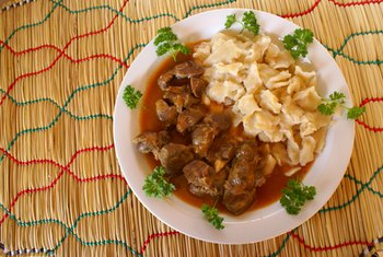 Chicken gizzards are stewed and served in soup in some cultures.
