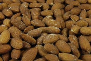 Almonds are a healthy source of iron.