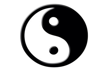 The yin/yang sign symbolizes balanced energy.