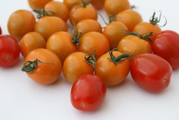 Tomatoes contain vitamin C and iron.