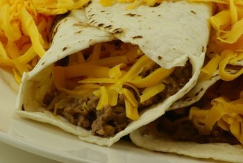 Beef burritos are more fattening than burritos made with beans or white meat.