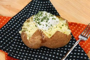 Baked potatoes help boost your intake of potassium.