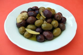 Olives contain small amounts of protein and fiber.
