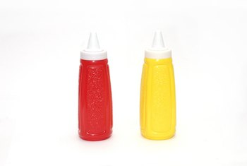 These brightly colored bottles contain nutrients.