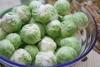 Brussels sprouts are a good source of both types of fiber.