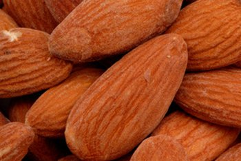 Healthy fats in almonds lower cholesterol.