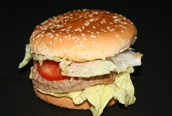 Turkey and beef patties have similar protein contents.