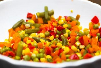 Mixed veggies are a quick way to add protein to your dish.