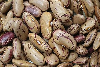 A 1-cup serving of pinto beans contains about 250 calories.