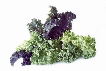 Leafy greens, such as kale, are rich in vitamin K.