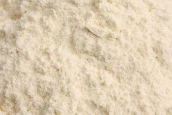 Wheat flour provides a source of fiber.