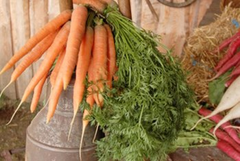 Carrots are full of nutrients for eye health.