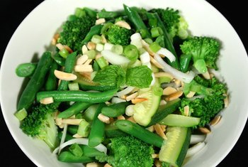 Green vegetables are good lutein sources.