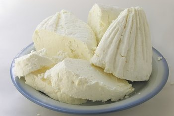 Cottage cheese is a vegetarian lean protein.